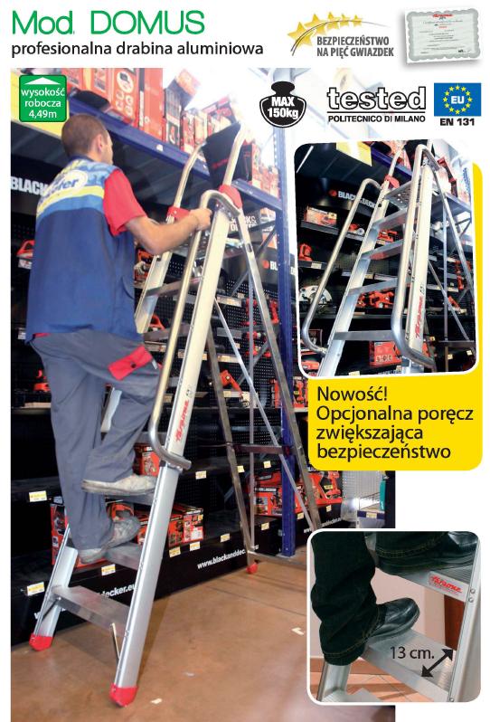 Drabina profesjonalna FARAONE DOMUS10 10 stopniowa - 4,03m