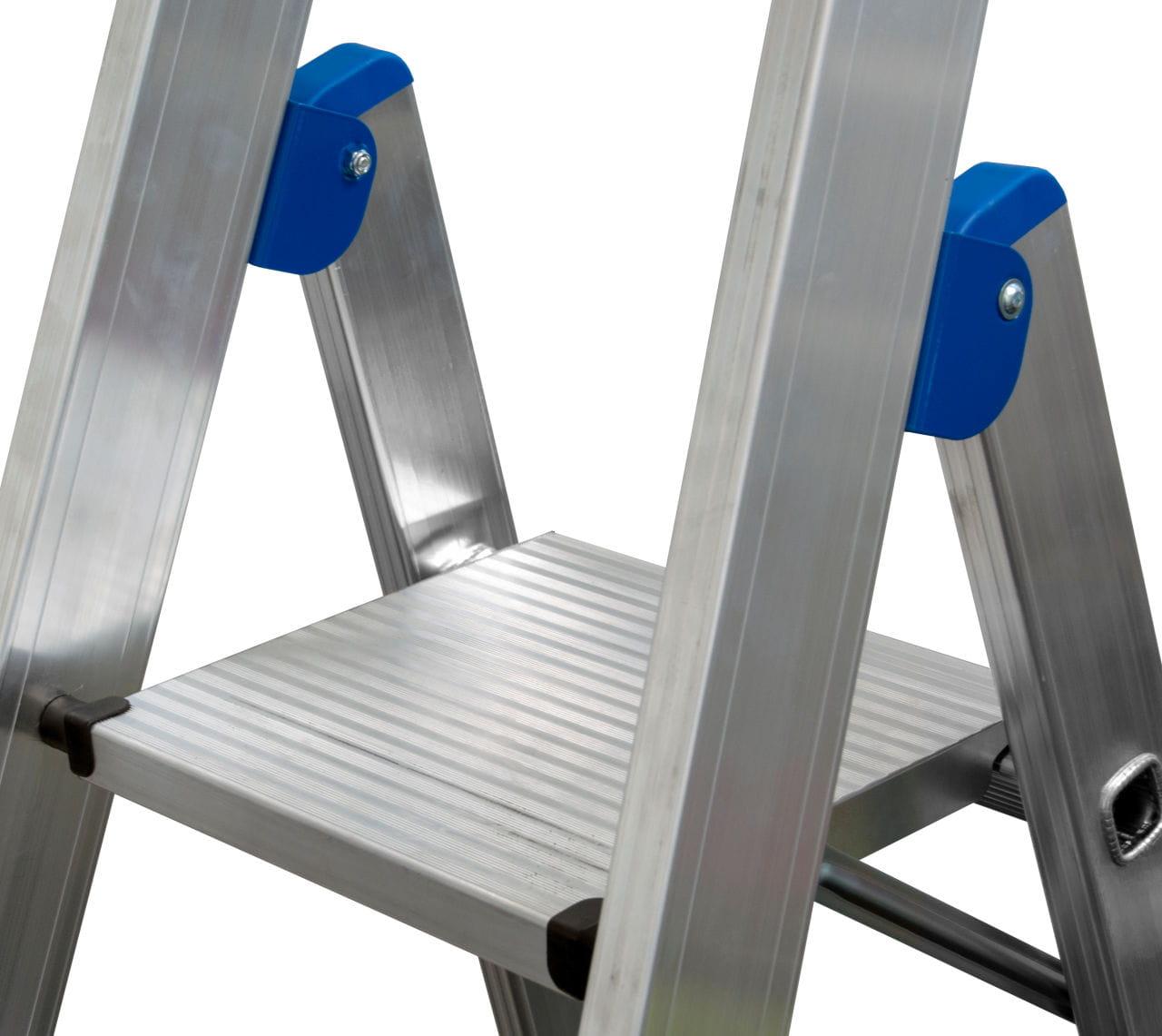 Drabina KRAUSE jezdniowa aluminiowa 1x7 stabilna platforma