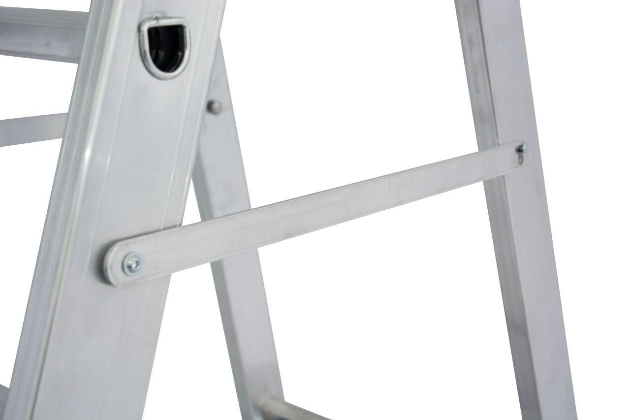 Drabina jezdniowa aluminiowa stabilo 1x8 bezpieczna blokada